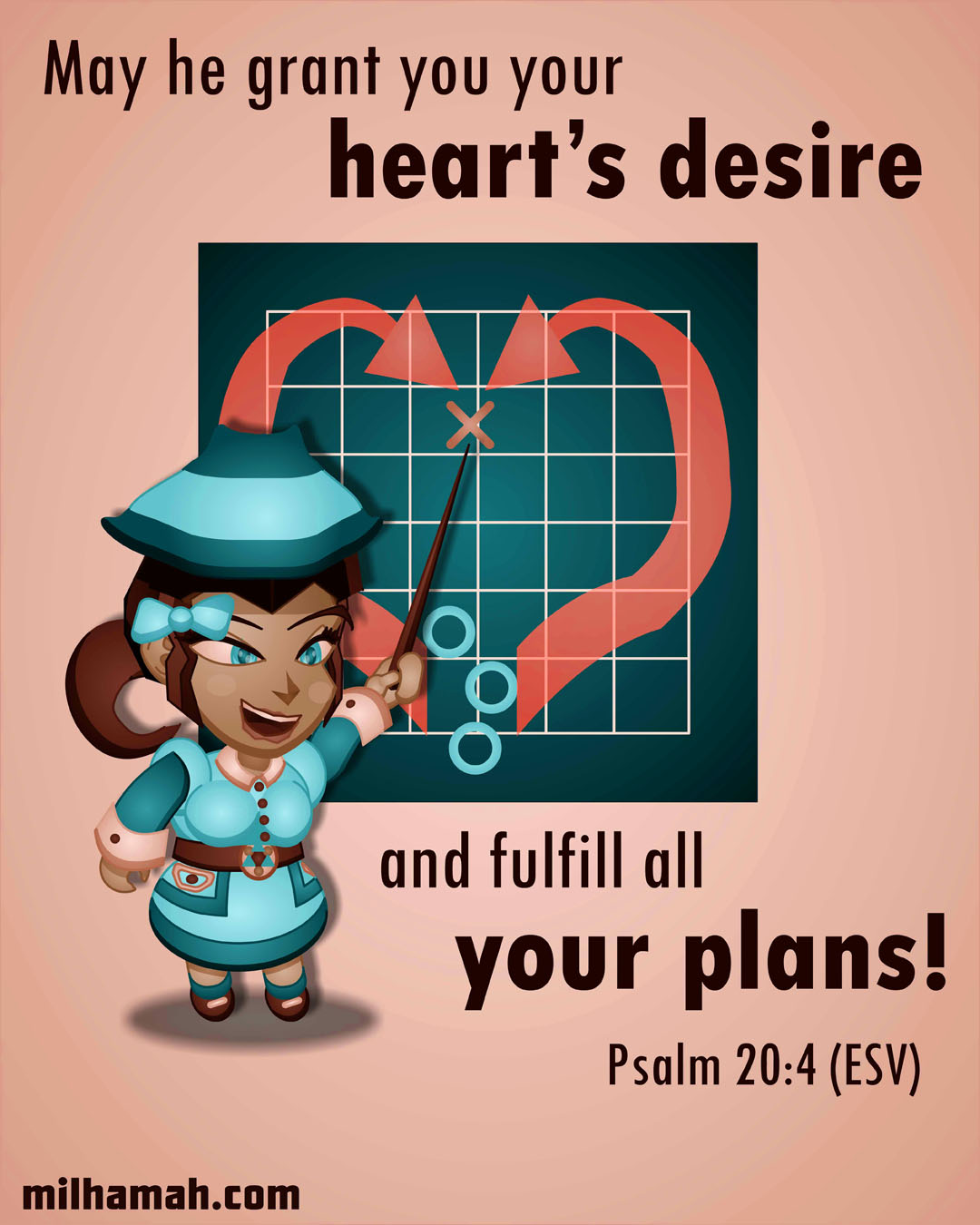 Inspiration came to me through Psalm 20:4.