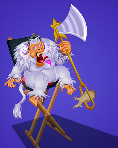 Qof is a crazy monkey with a needle axe. Nothing can go wrong there.