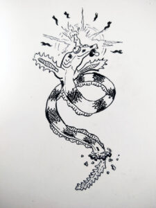 Nun is the serpent fish who represents the 14th letter.