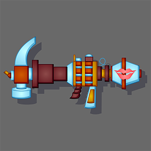 The Nesheq Weapon is now in color.