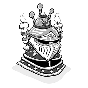 The Ceremonial Ritual Helmet is popular at public military events.